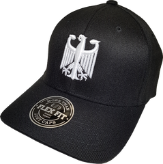 Germany Flex Fit Cap Black and White