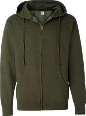 Independent Full Zip Midweight Hoodies