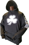 Irish Clover Hoodie Black and White