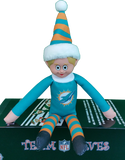 Miami Dolphins Elf On A Shelf