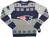 New England Patriots Ugly Christmas Sweater Big Logo