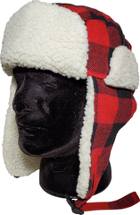 Plaid Bomber Toques With Ear Flaps