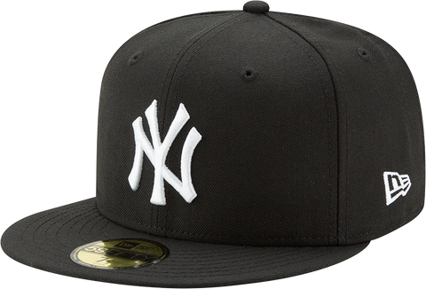 New York Yankees New Era 59Fifty Fitted Black And White