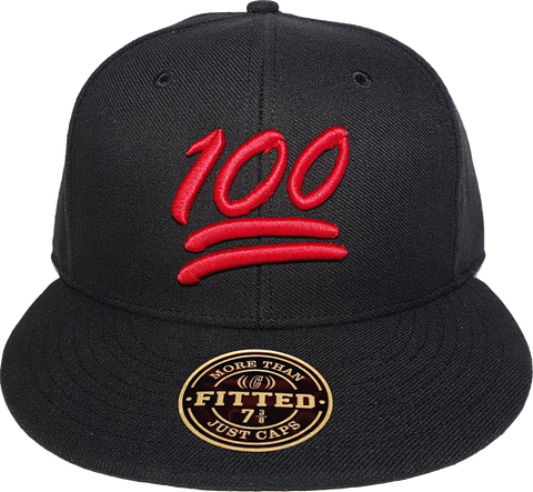 100 Emoji Fitted Hat