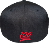 100 Emoji Cap 512 Area Code Flex Fit