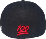 100 Emoji Hat 617 Area Code Fitted Back