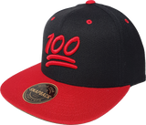 100 Emoji Snapback Black Red