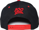 512 Snapback 100 Emoji Inspired Black Red