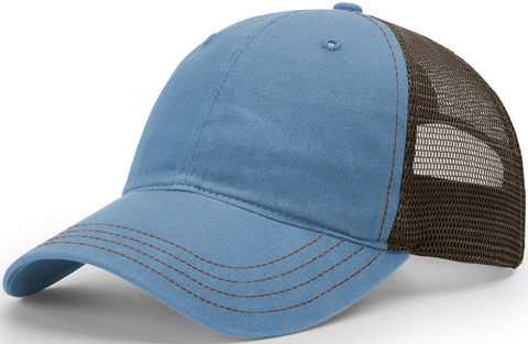 Blank Garment Washed Trucker Captain Blue Brown