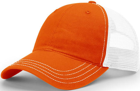 Blank Garment Washed Trucker Orange White