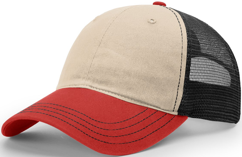 Blank Garment Washed Trucker Stone Black Red