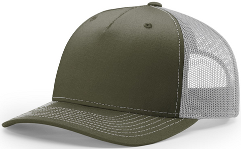 Blank Low Profile 5 Panel Trucker Beetle Quarry