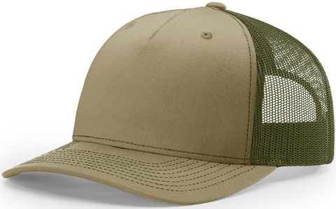 Blank Low Profile 5 Panel Trucker Khaki Loden