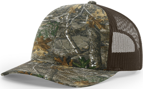 Blank Printed Trucker Realtree Edge Brown