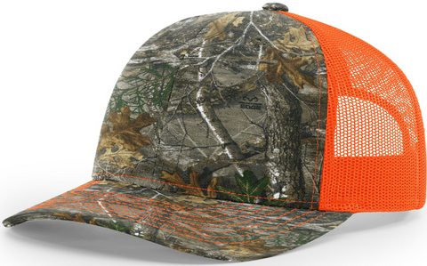 Blank Printed Trucker Realtree Edge Neon Orange