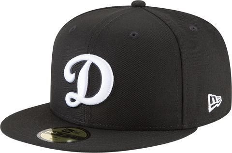 Los Angeles Dodgers D Black And White New Era 59Fifty Fitted