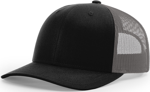 Blank Low Profile Trucker Black Charcoal