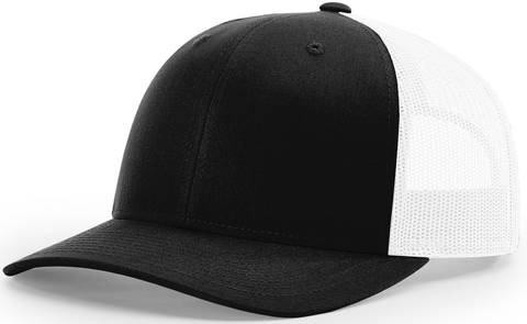 Blank Low Profile Trucker Black White