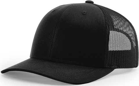 Blank Low Profile Trucker Black