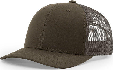 Blank Low Profile Trucker Chocolate Chip Grey Brown