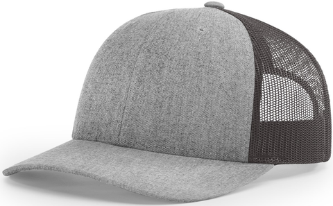 Blank Low Profile Trucker Heather Grey Charcoal
