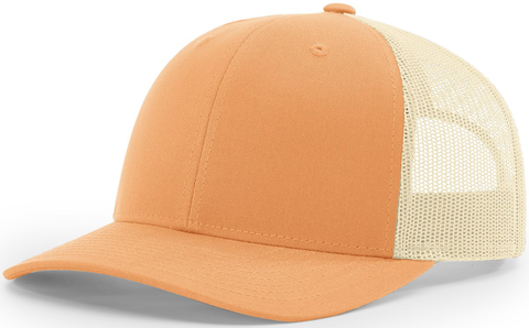 Blank Low Profile Trucker Peach Birch