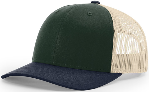 Blank Low Profile Trucker Spruce Birch Light Navy