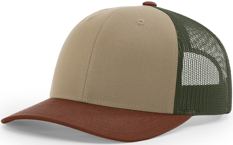 Blank Low Profile Trucker Tan Loden Brown