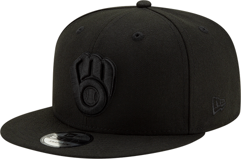 Milwaukee Brewers New Era 9Fifty Snapback Blackout