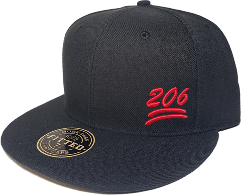 100 Emoji Hat 206 Area Code Fitted