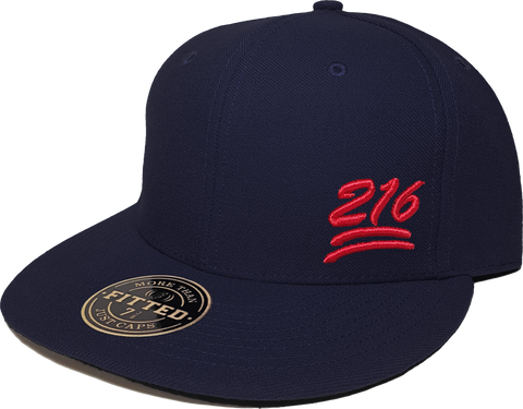 100 Emoji Hat 216 Area Code Fitted Navy