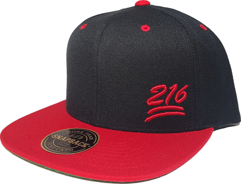 216 Snapback 100 Emoji Inspired Black Red