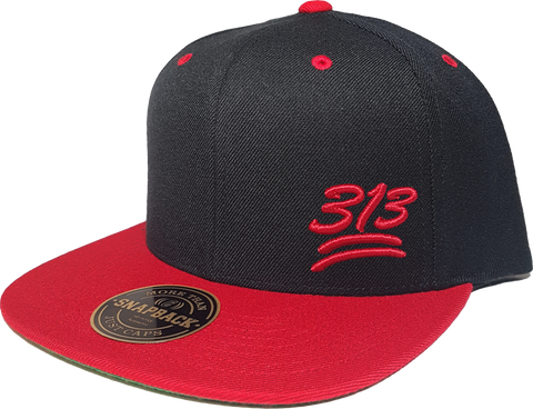 313 Snapback 100 Emoji Inspired Black Red