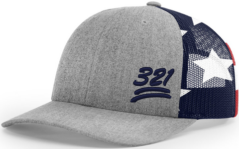 321 Cap Low Profile Trucker Stars And Stripes