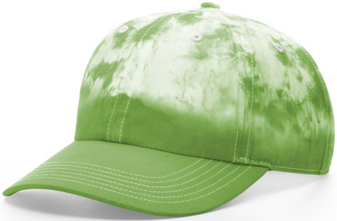 Blank Hand Dipped Tie Dye Dad Hat Lime