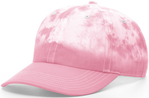 Blank Hand Dipped Tie Dye Dad Hat Pink