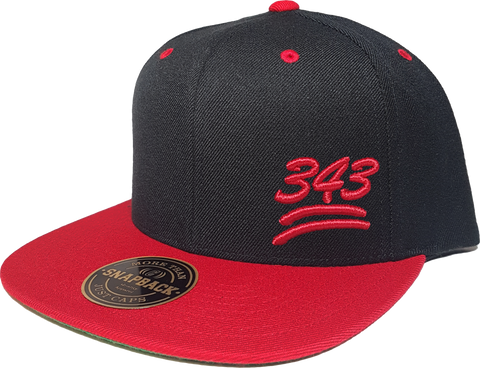 343 Keep It 100 Snapback Black Red