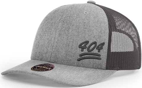 404 Hat Low Profile Trucker Heather Charcoal