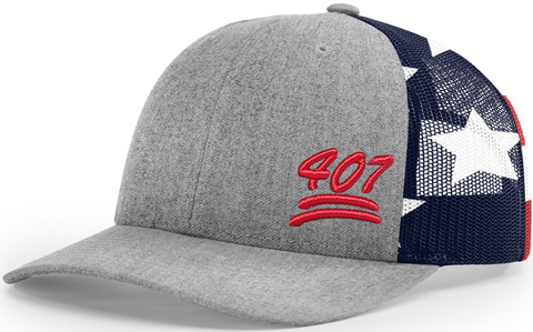 407 Cap Low Profile Trucker Stars And Stripes