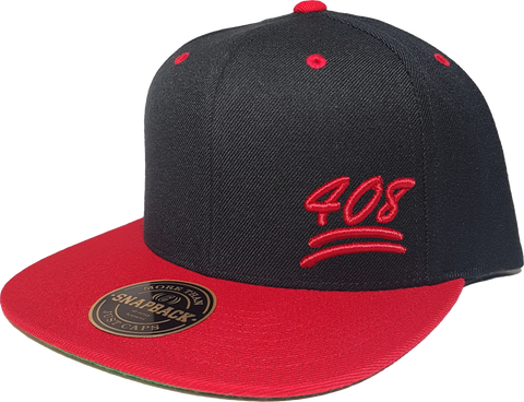 408 Snapback 100 Emoji Inspired Black Red