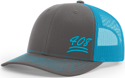 408 Keep It 100 Trucker Black Neon Blue