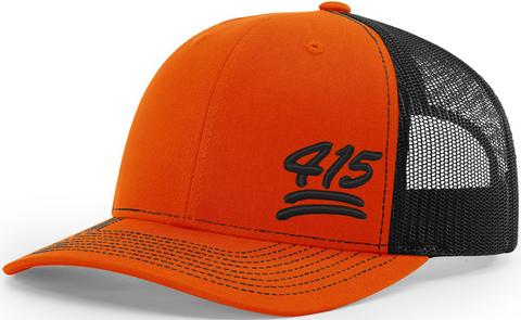 415 Keep It 100 Trucker Black Orange