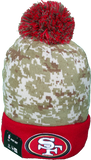 San Francisco 49ers Salute to Service Sideline Fleece Pom Toque