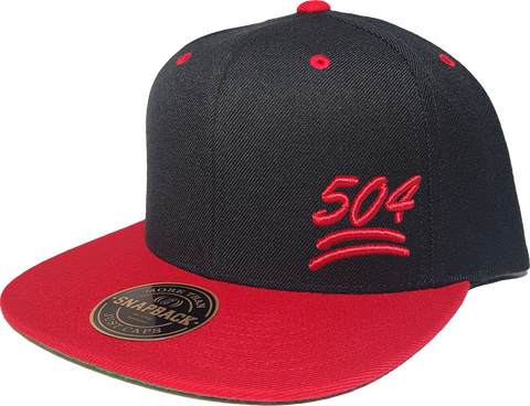 504 Snapback 100 Emoji Inspired Black Red
