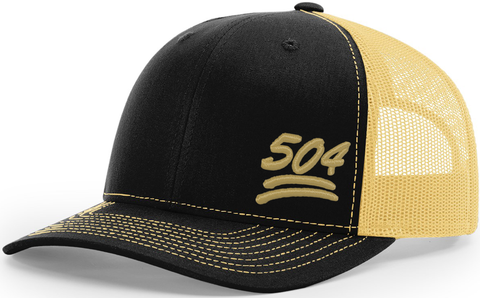 504 Keep It 100 Trucker Black Vegas Gold
