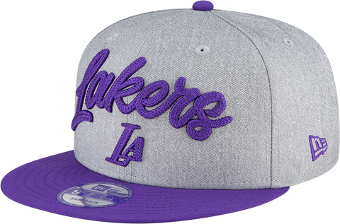 Los Angeles Lakers NBA 9FIFTY Draft Snapback Heather Grey Purple