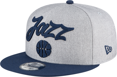 Utah Jazz NBA 9FIFTY Draft Snapback Heather Grey Navy