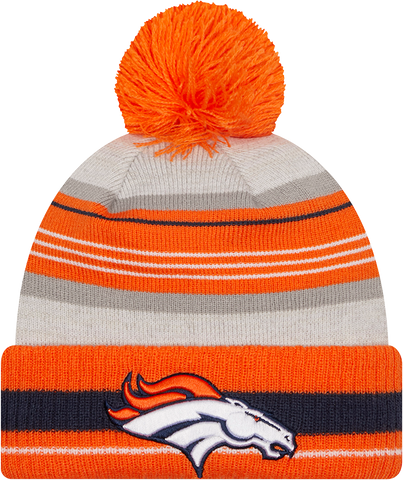 Denver Broncos Knit Grayed Pom Toque
