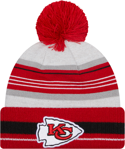 Kansas City Chiefs Knit Grayed Pom Toque