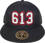 613 Area Code Fitted Hat Black
